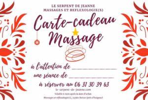 carte-cadeau offrir un massage au Serpent de Jeanne motif hiver